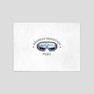 Bromley Mountain - Peru - Vermont 5'x7'Area Rug