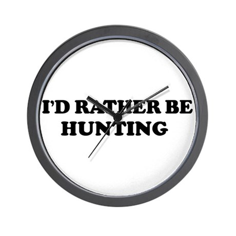 Rather be Hunting Wall Clock