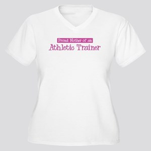 Proud Mother of Athletic Trai Women's Plus Size V-