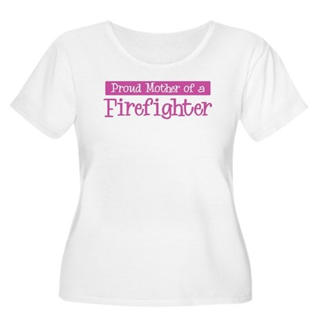 Proud Mother of Firefighter Women's Plus Size Scoo