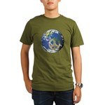 Peace On Earth Organic Men's T-Shirt (dark)