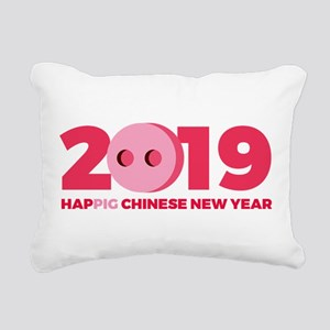 2019 Year of the Pig Rectangular Canvas Pillow