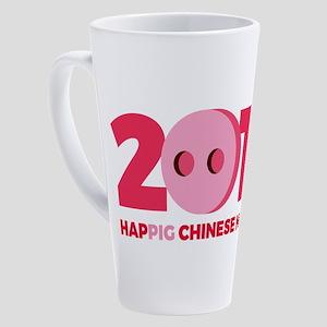 2019 Year of the Pig 17 oz Latte Mug