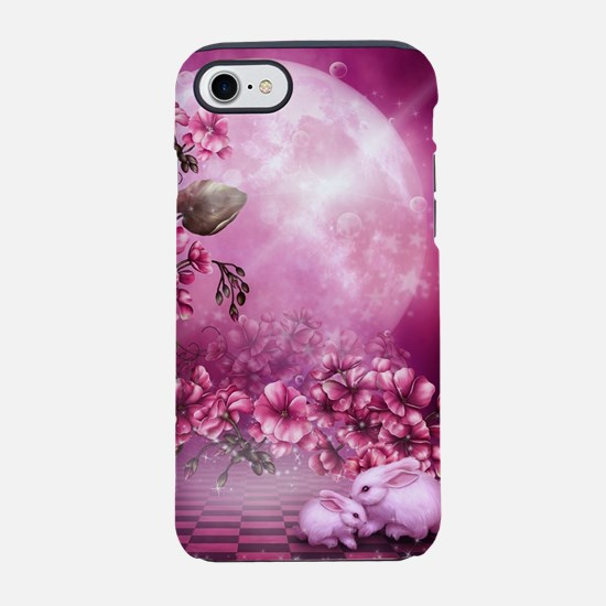 Pink Easter Rabbits iPhone 7 Tough Case