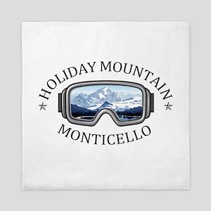 Holiday Mountain Ski & Fun - Montice Queen Duvet