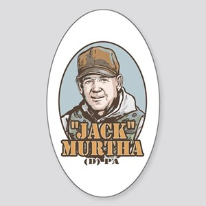 Jack Murtha Chickenhawk Hunter Oval Sticker
