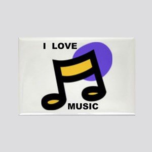 MUSIC Rectangle Magnet