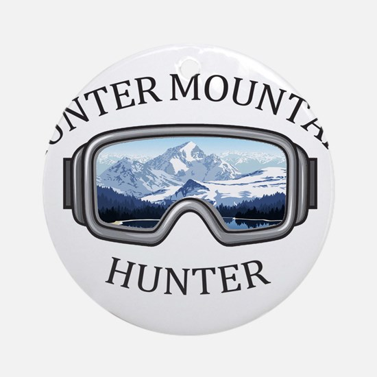 Hunter Mountain - Hunter - New Yo Round Ornament