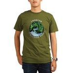 Imagine Whirled Peas Organic Men's T-Shirt (dark)