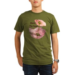 Share The Peas Organic Men's T-Shirt (dark)