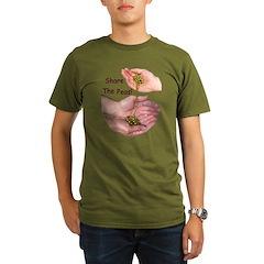 Share The Peas Organic Men's T-Shirt (dark)