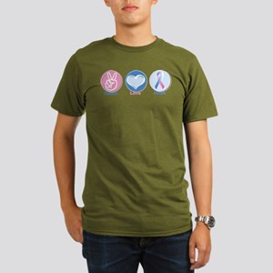 Peace Love BlPk Hope Organic Men's T-Shirt (dark)