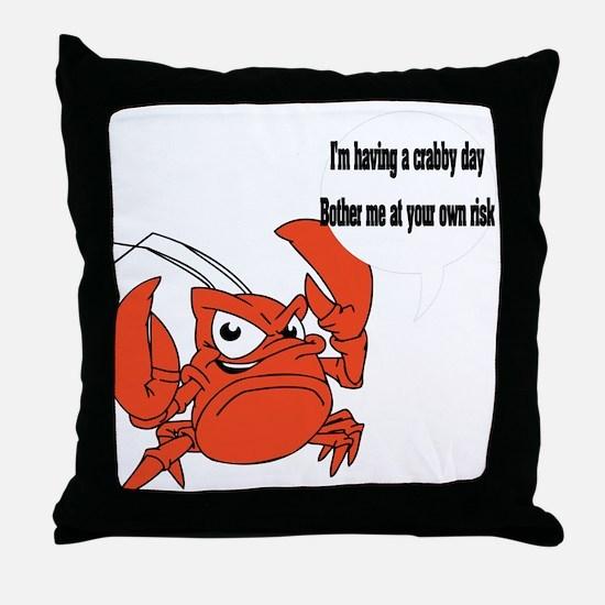 Crabby Day Throw Pillow