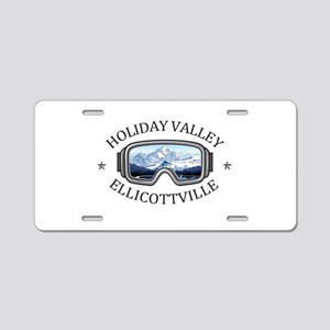 Holiday Valley - Ellicott Aluminum License Plate