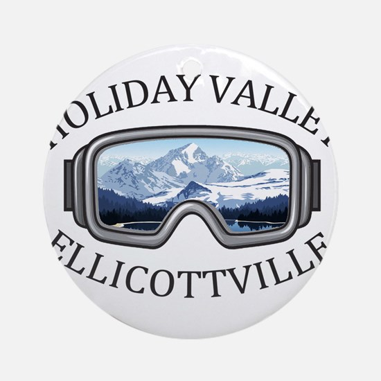 Holiday Valley - Ellicottville - Round Ornament