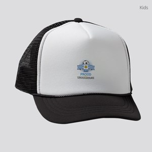 Football Uruguay Uruguayans Socce Kids Trucker hat