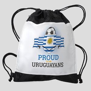 Football Uruguay Uruguayans Soccer Drawstring Bag