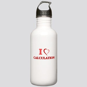 I love Calculation Stainless Water Bottle 1.0L
