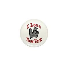 I Love New York Mini Button (10 pack)