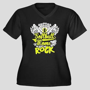 Softball Mom Rock T Shirt Plus Size T-Shirt