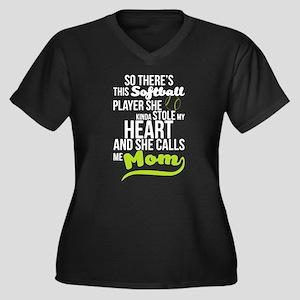 She Calls Me Softball Mom T Shir Plus Size T-Shirt