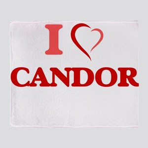 I love Candor Throw Blanket