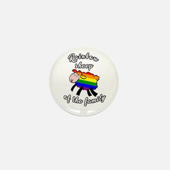 Rainbow sheep Mini Button