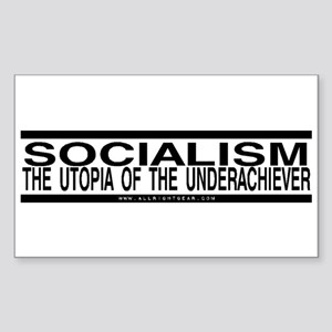 Socialism Utopia Rectangle Sticker