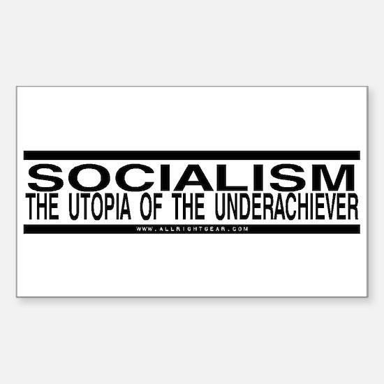 Socialism Utopia Rectangle Decal