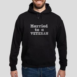Married to a Veteran Hoodie (dark)