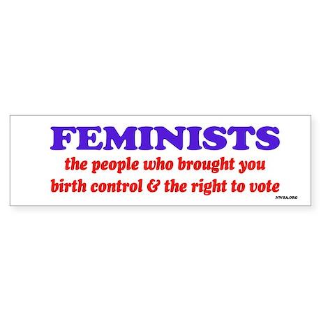 Fem vote Bumper Sticker