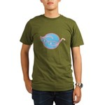 Retro Glasses Design Organic Men's T-Shirt (dark)