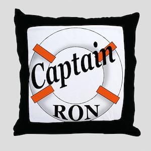 Captain Ron Throw Pillow