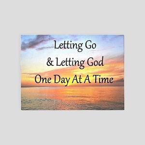 LET GO LET GOD 5'x7'Area Rug