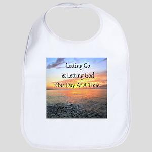 LET GO LET GOD Cotton Baby Bib