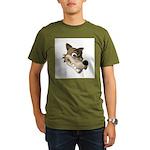 Funny Wolf Face Organic Men's T-Shirt (dark)