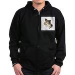 Funny Wolf Face Zip Hoodie (dark)