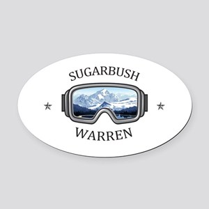 Sugarbush Resort - Warren - Verm Oval Car Magnet