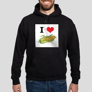 I Heart (Love) Corn (On the C Hoodie (dark)