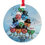 Yule 2017 Large Round Ornament