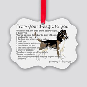 A Beagle's letter to you Ornament
