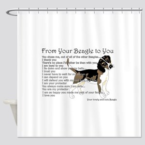 A Beagle's letter to you Shower Curtain