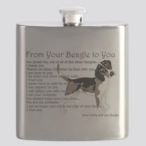 A Beagle's letter to you Flask