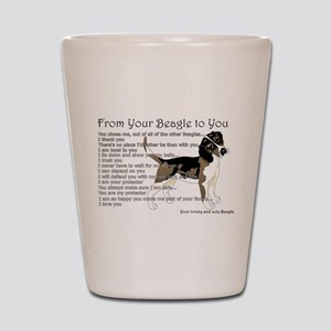 A Beagle's letter to you Shot Glass