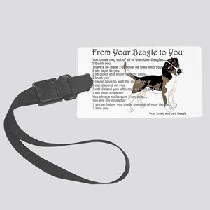 A Beagle's letter to you Luggage Tag
