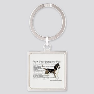 A Beagle's letter to you Keychains
