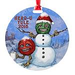 Kwirky Yule Round Ornament