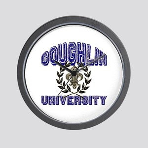 Coughlin Last Name University Wall Clock