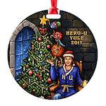 Hero-U Yule 2015 Round Ornament