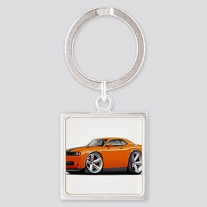 Challenger SRT8 Orange Car Keychains